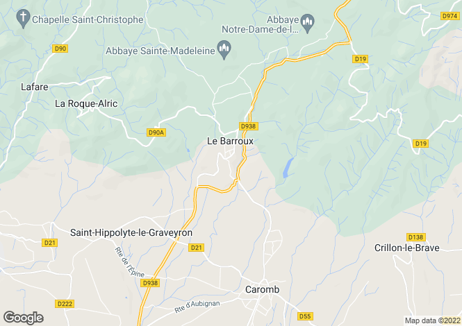 Map for le-barroux, Vaucluse, France