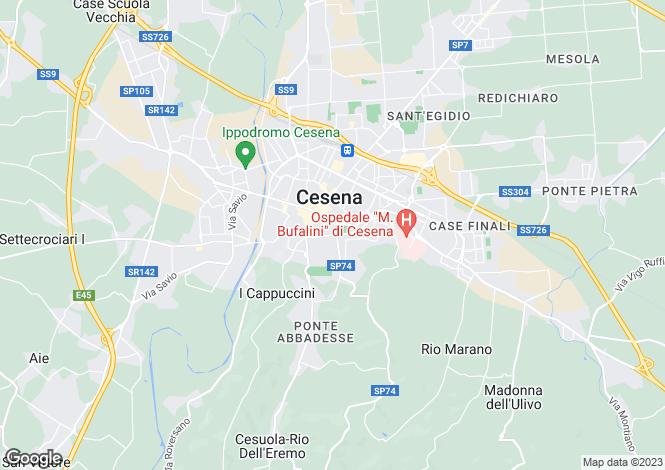 Map for Cesena, Forlì-Cesena, Emilia-Romagna