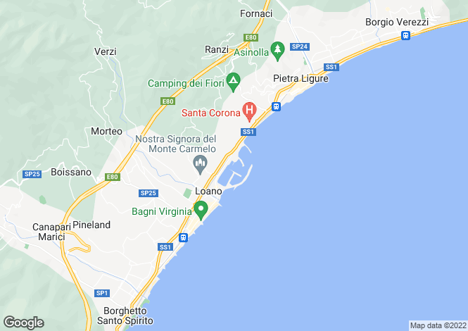 Map for Liguria, Savona, Loano