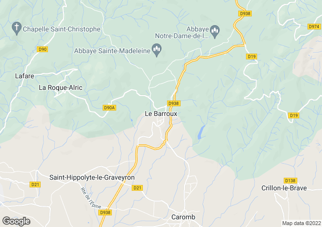 Map for 84330, Le Barroux, Vaucluse