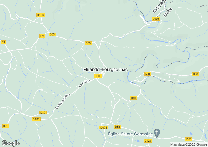 Map for Midi-Pyrenees, Tarn, Mirandol-Bourgnounac
