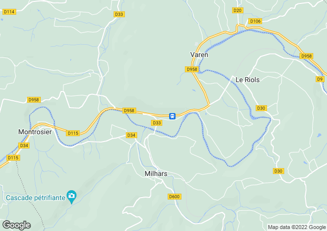 Map for Midi-Pyrénées, Tarn-et-Garonne, Varen
