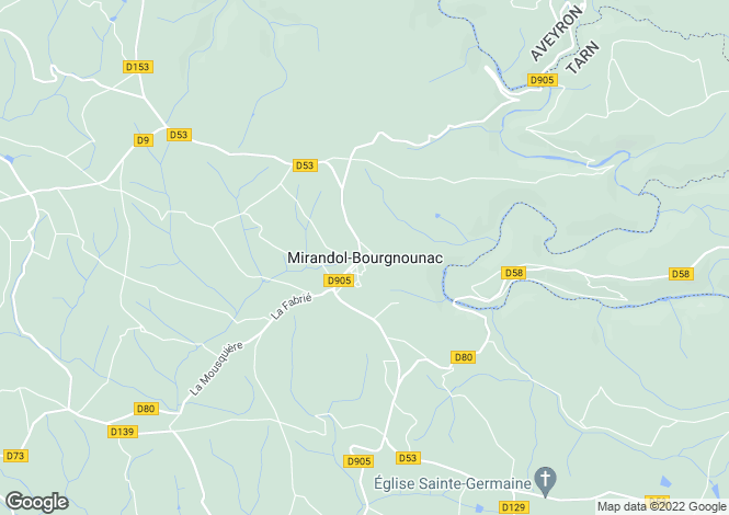 Map for Proche/Near Mirandol Bourgnounac, Tarn