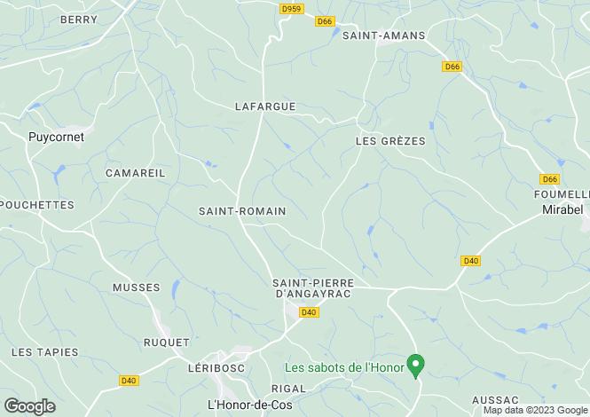 Map for Bastide Village, Tarn Et Garonne, Midi-Pyrenees