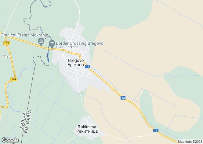 Map for Vidin, Bregovo