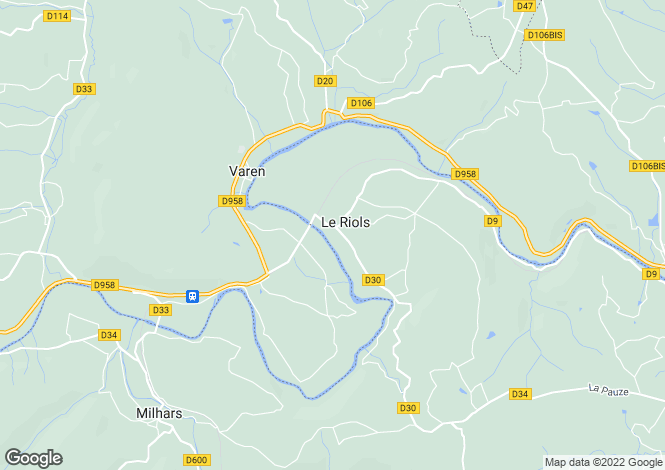 Map for Midi-Pyrénées, Tarn, Le Riols