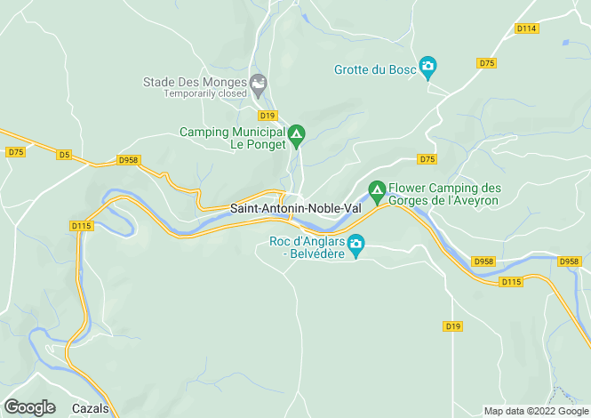 Map for Secteur: St Antonin De Noble Val, Tarn et Garonne