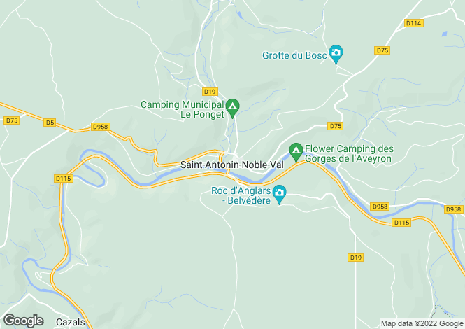 Map for Secteur: St Antonin Noble Val, Tarn et Garonne