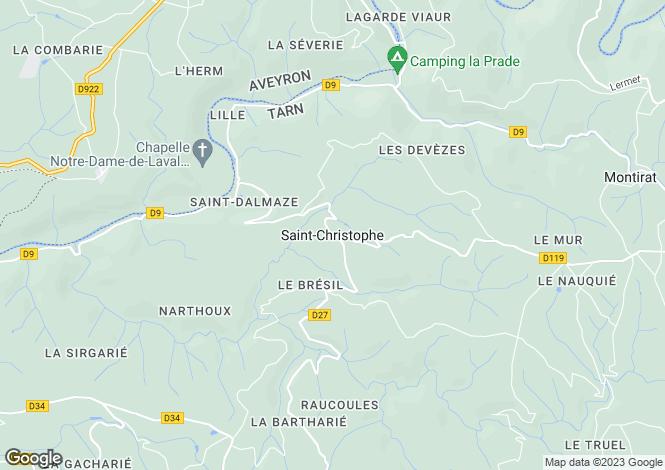 Map for Proche / Near St Christophe, Tarn