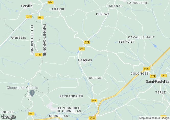 Map for Secteur: Gasques, Tarn-et-Garonne