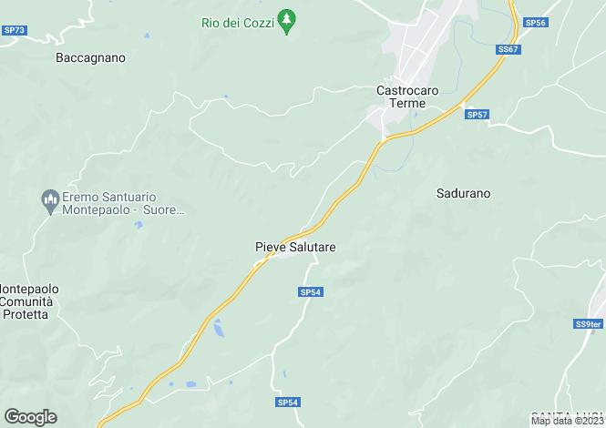Map for Castrocaro Terme, Forlì-Cesena, Emilia-Romagna