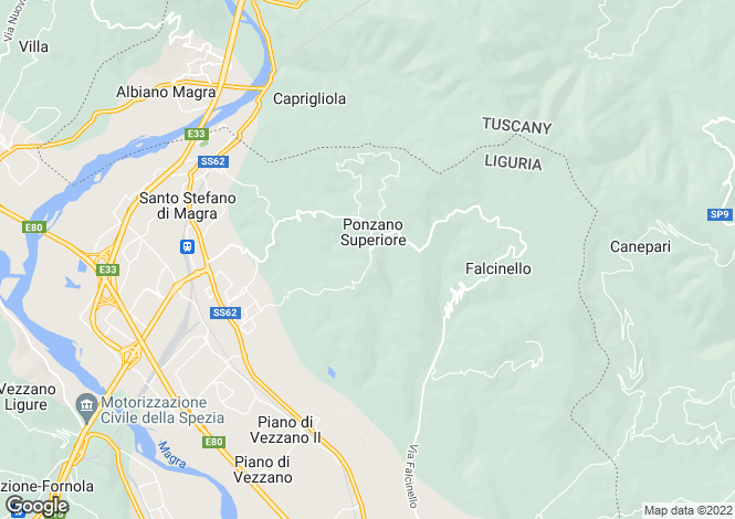 Map for Santo Stefano Magra, La Spezia, Italy