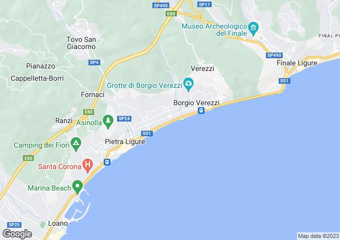 Map for Pietra Ligure, Savona, Liguria