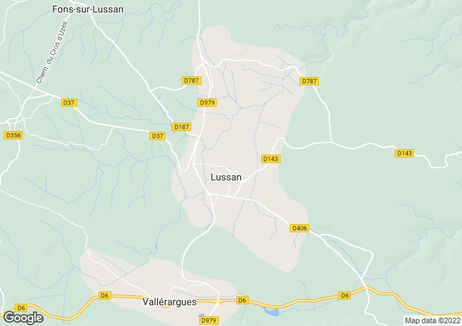 Map for lussan, Gard, France