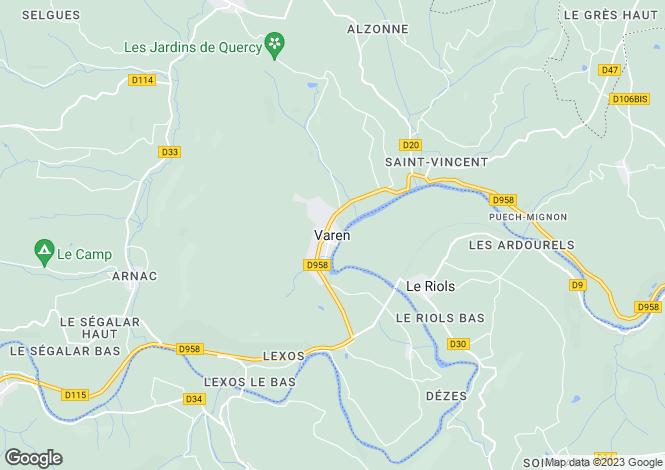 Map for Secteur: Varen, Tarn et Garonne