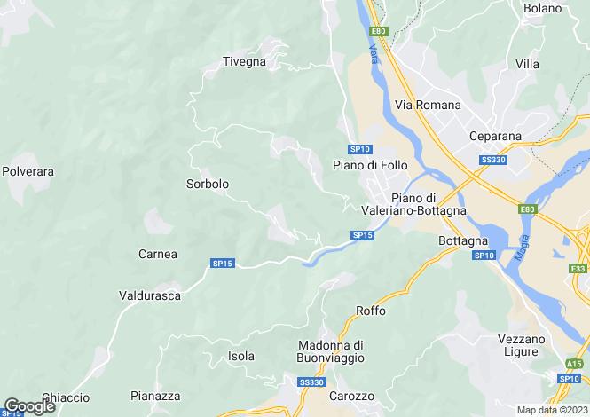 Map for Follo, La Spezia, Italy