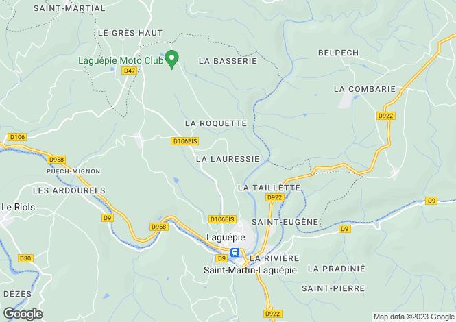 Map for Laguépie, Tarn-et-Garonne, Midi-Pyrénées