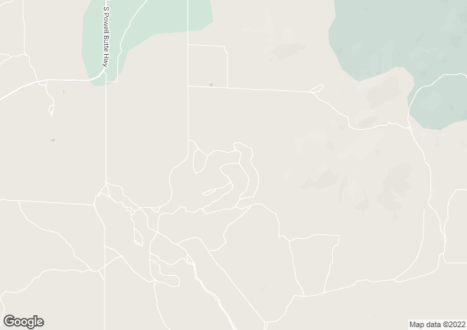 Map for Oregon, Crook County, Powell Butte