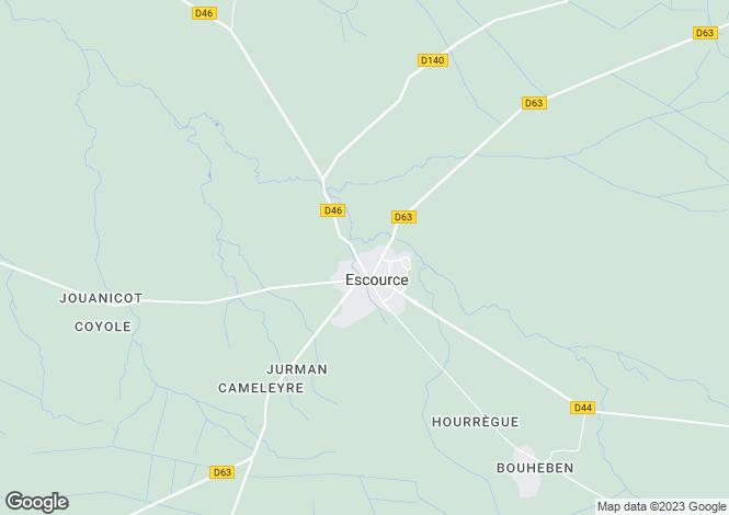 Map for escource, Landes, France