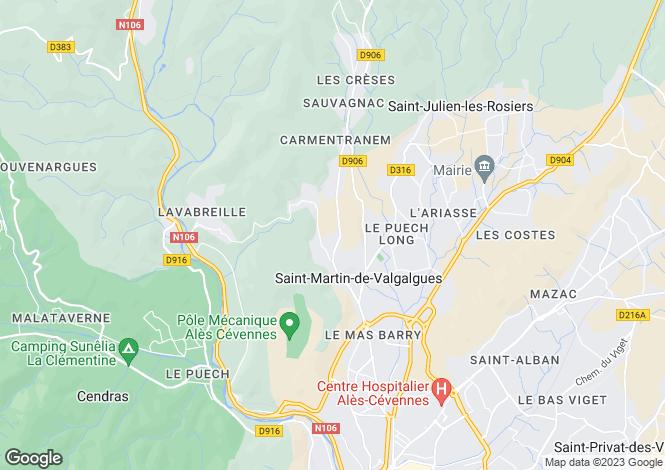 Map for st-martin-de-valgalgues, Gard, France
