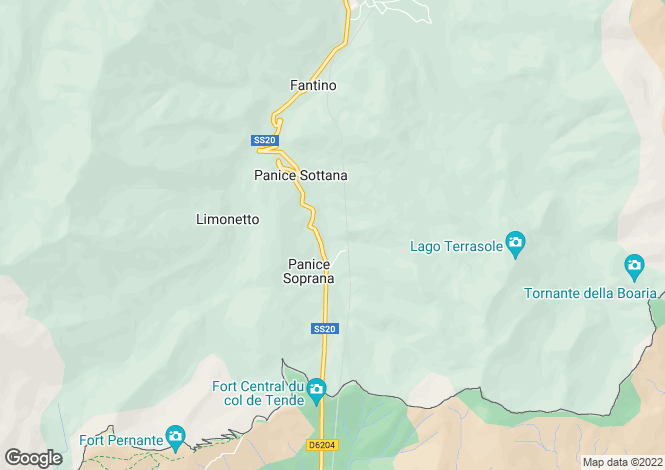 Map for Limone Piemonte, Cuneo, Piedmont