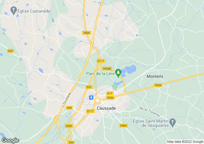 Map for Midi-Pyrenees, Tarn-et-Garonne, Caussade