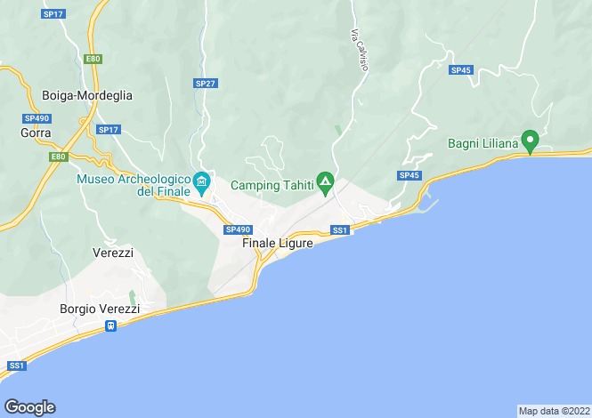 Map for Liguria, Finale Ligure, Altri Borghi Liguri