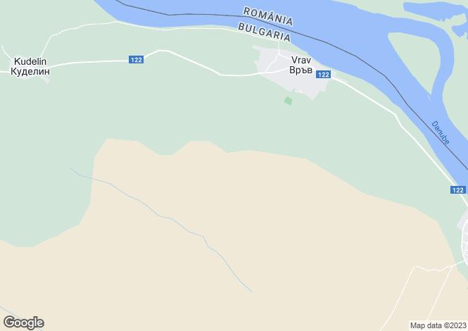 Map for Vruv, Vidin