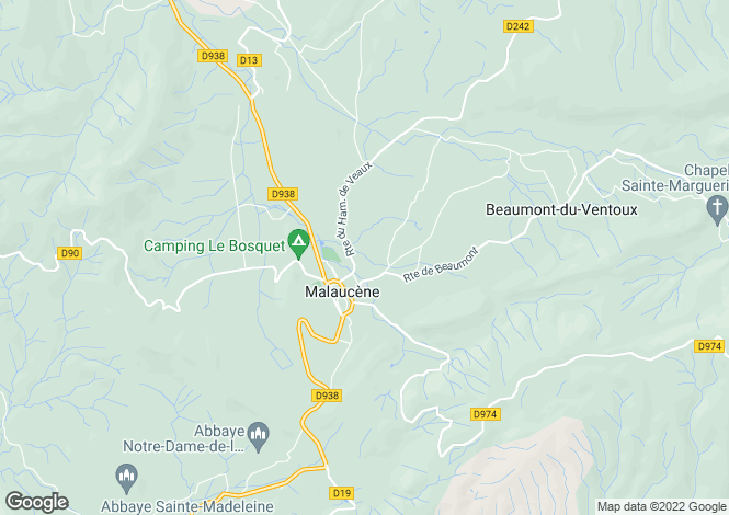 Map for malaucene, Vaucluse, France