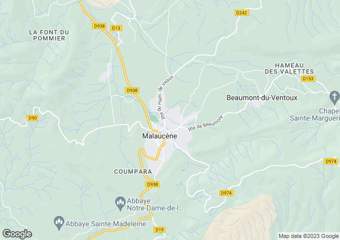 Map for Provence-Alps-Cote d`Azur, Vaucluse, Malaucène