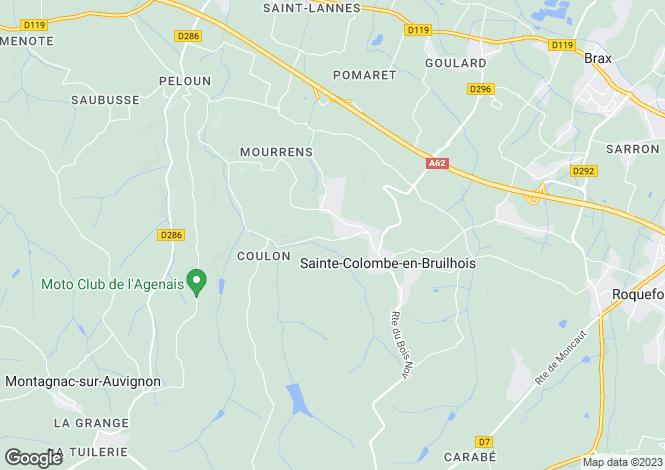 Map for Ste-Colombe-en-Bruilhois, Lot-et-Garonne, Aquitaine