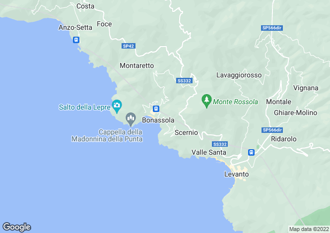 Map for Bonassola, La Spezia, Liguria