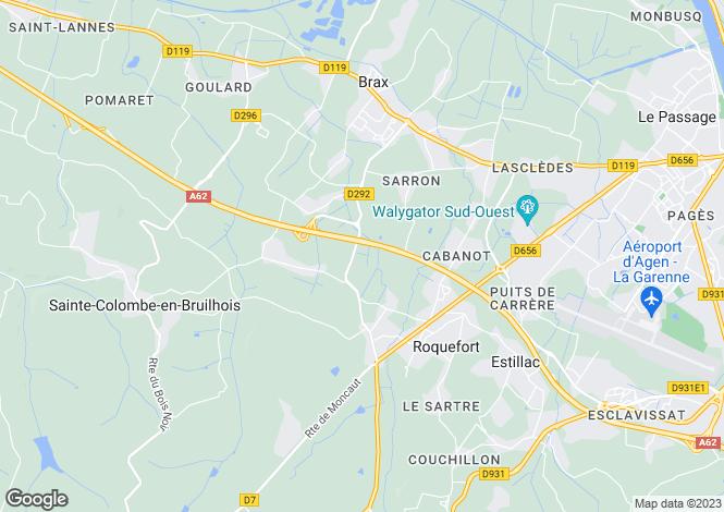 Map for roquefort, Lot-et-Garonne, France