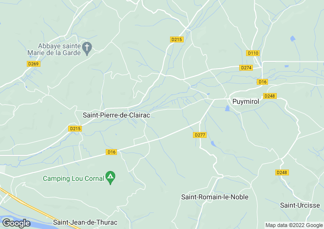 Map for St-Pierre-de-Clairac, Lot-et-Garonne, Aquitaine