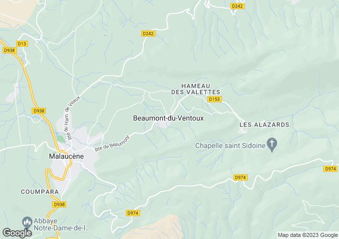 Map for BEAUMONT-DU-VENTOUX