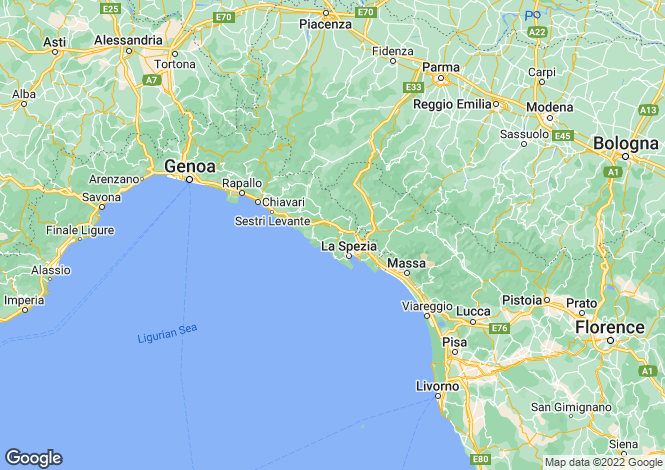 Map for Liguria, La Spezia