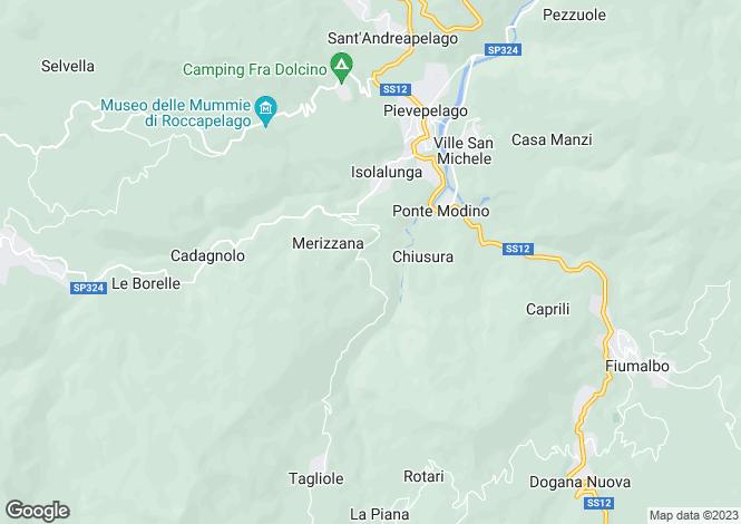 Map for Pievepelago, Modena, Emilia-Romagna