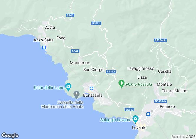 Map for Liguria, La Spezia, Bonassola