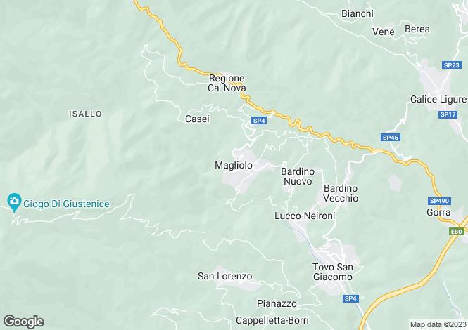 Map for Magliolo, Savona, Liguria
