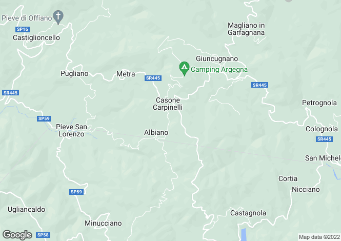 Map for Minucciano, Lucca, Italy