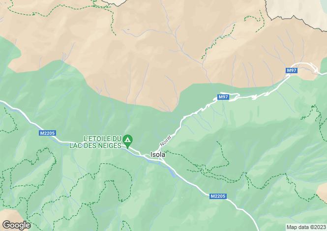 Map for Provence-Alpes-Cote d'Azur, Alpes-Maritimes, Isola