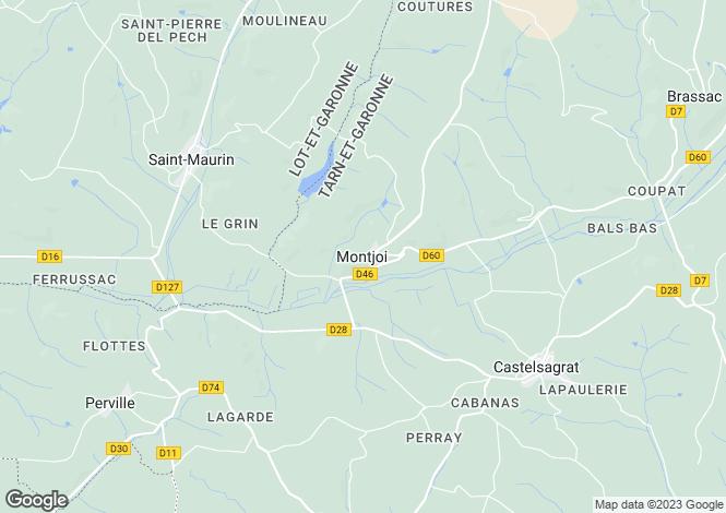 Map for Secteur: Montjoi, Tarn-et-Garonne
