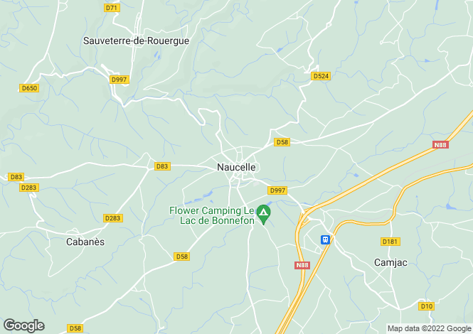 Map for Proche / Near Naucelle, Aveyron