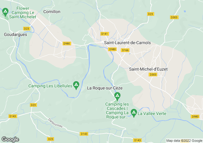 Map for LA ROQUE SUR CEZE, Nîmes, Avignon, Uzès Area, Provence - Var,
