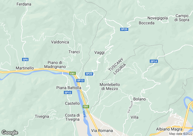 Map for Podenzana, Lunigiana, Italy