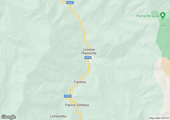 Map for Italy - Piedmont, Cuneo, Limone Piemonte