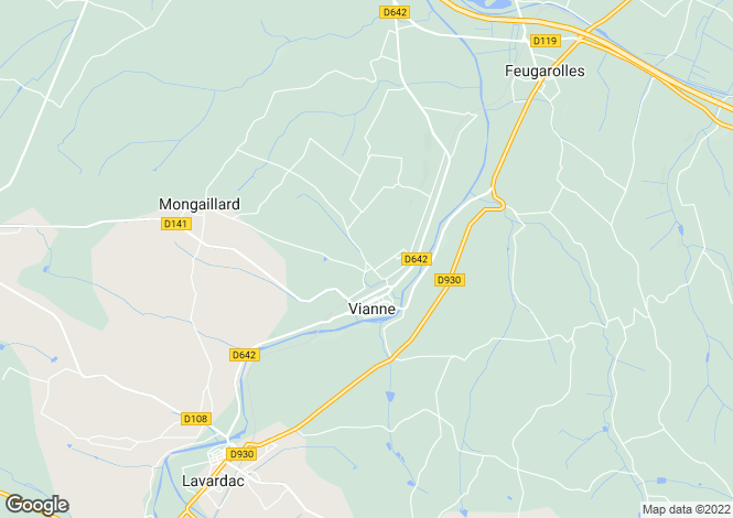 Map for Vianne, Aquitaine, France