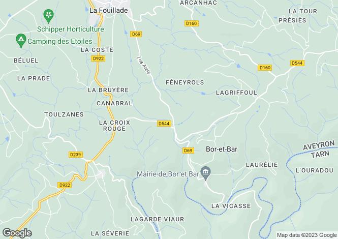 Map for Bor-et-Bar, Aveyron, Midi-Pyrénées