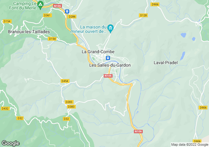 Map for les-salles-du-gardon, Gard, France