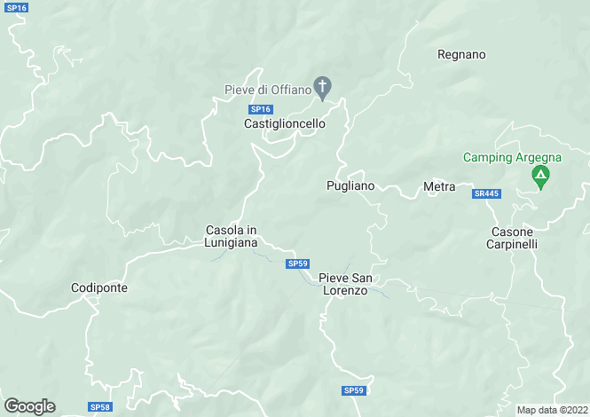 Map for Casola in Lunigiana, Lunigiana, Italy
